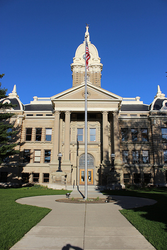 Ingham County Courthouse. Photo by Michael Beck, utilized under Creative Commons, all rights reserved to original creator.  https://www.flickr.com/photos/mrbeck/6906269368/in/photostream/