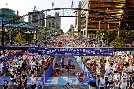Saginaw Street During The Crim Festival of Races