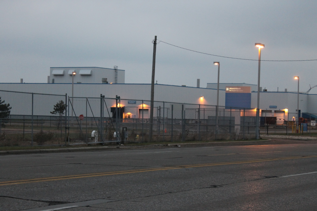 The General Motors plant at Bristol Rd and Van Slyke Road in Flint, MI
