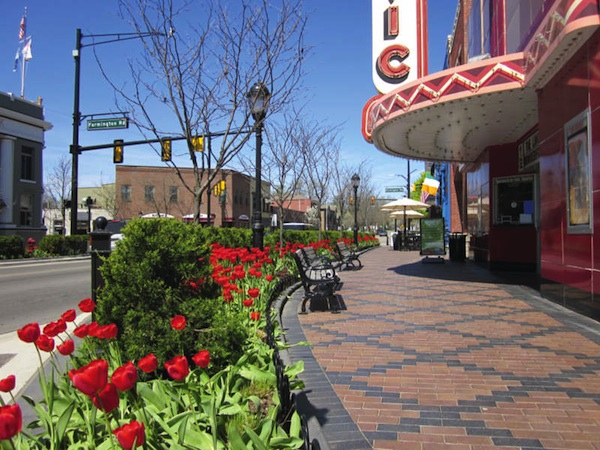 View of Downtown Farmington from the Civic Theatre