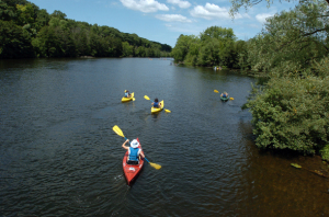 Kayaking on the Huron River