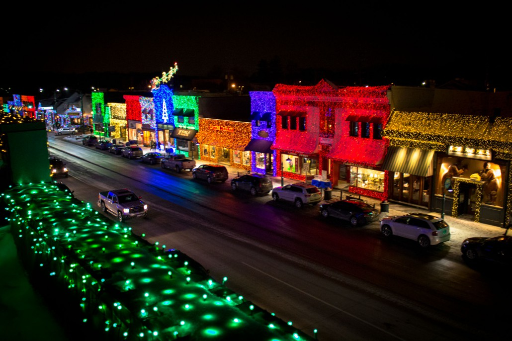 Downtown Rochester during the Big Bright Light Show