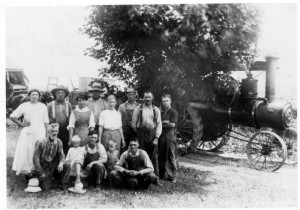 The community was extremely close, and families would come together to help others harvest. This is a harvest group at Haff Farm, taken from http://mmm.lib.msu.edu/record.php?id=3419#images