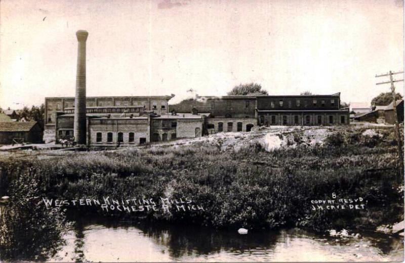 The Western Knitting Mills. The building changed ownership several times and is currently the home of the Rochester Mills Beer Company