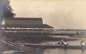 This is a picture of what Pine Lake looked like in the early 1800's.